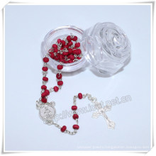 Religious Plastic Packing Box, Rose Plastic Box, Catholic Box, Rosary Box (IO-p023)