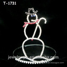 Simple design crystal snowman christmas crowns