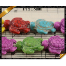 Фасонируйте шарик, шарики формы черепашки бирюзы цвета смешивания цвета (GB0117)
