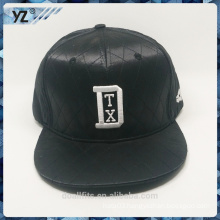 Leather with selling like hotcakes snapbanck hat and 3D emboridery