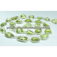 Beautiful Paridot Fancy Cut Nugget Beaded Chains, Wholesale Supplier Gemstone Jewelry