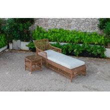 Poly resina Rattan Sun Lounger para jardín al aire libre Playa y Resort