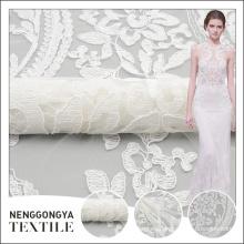 Diseño floral del bordado de la cinta de malla elegante profesional del fabricante de China