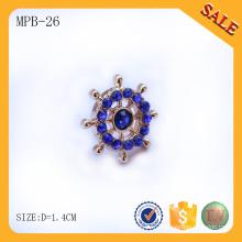 MPB26 Lear badges en forme de rhinestone gratuit en métal pour sac