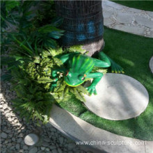 simulation fiberglass animal sculpture-frog