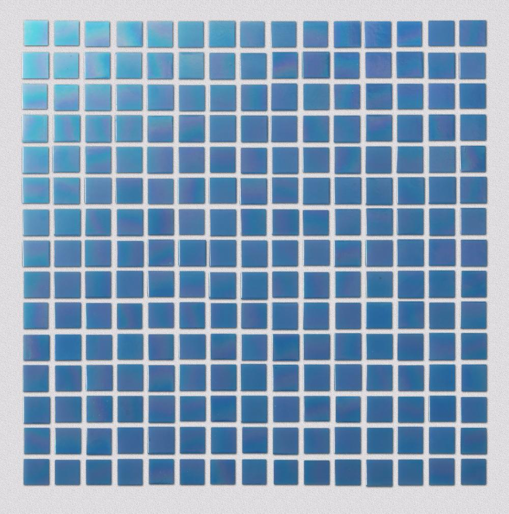 Deep Blue Pearl Square Mosaic