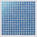 Dark Blue Watercolor Glass Mosaic Tiles For Bathroom