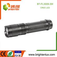 Factory Hot Sale 3 * AAA Batterie en métal métallisé Best Bright USA Cree XPE 3W conduit Pocket Flashlight