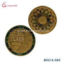 Latón / cinc aleación recuerdo moneda de oro para boda