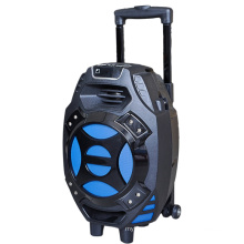 8inch Portable Speaker Guitar-in Trolley Speaker with Card Reader Slot Q7s-16