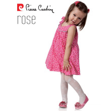 Pierre Cardin Rose OEM Wholesale Kids Girl Tights Patterned Pantyhose Dried Rose Color