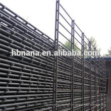 Adorno de PVC con doble asa de alambre / doble valla de alambre soldada horizontalmente / Doble valla de alambre de malla