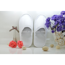 cheap soft personalized close toe white non-woven fabric hotel slipper