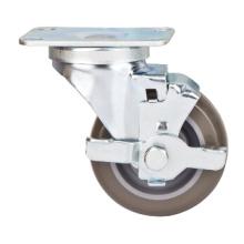 Roulette moyenne de 76 mm avec frein latéral