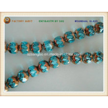 Faceted Plating Glass Bead (S087)
