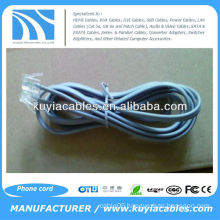 two conductor RJ 11 Flat Phone Cable