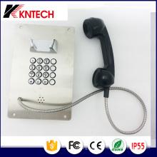 Telefone de aço inoxidável com botão de metal Telefone de emergência Knzd-07A