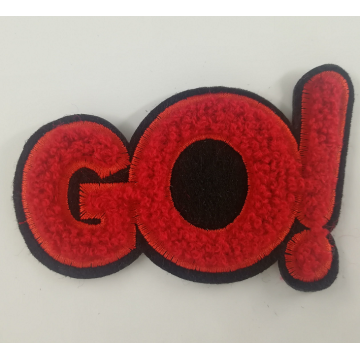 1 Layer Black Felt Go Chenille Patch Custom