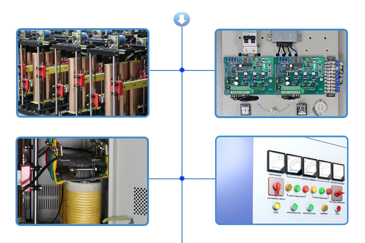 Servo Control 800KVA Three Phase Automatic Voltage Regulators Stabilizers