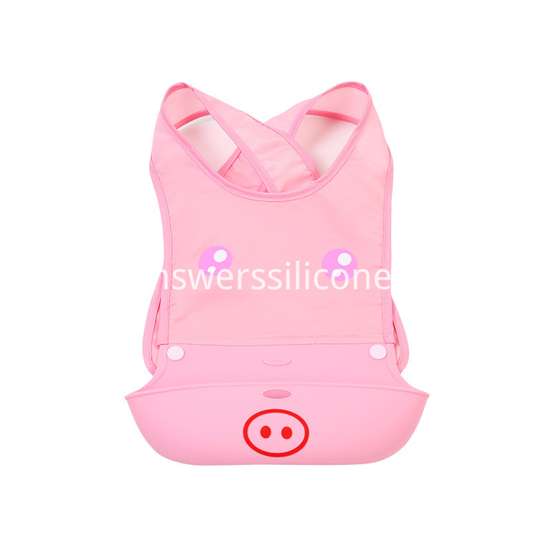 Wearable baby bibs pink