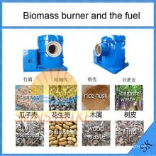 Ahorrar energía biomasa quemador de aserrín utilizado para la fuente de calor