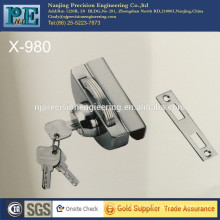 980 half round brass mirror polished fabrication brass lock core single glass door single lock head
