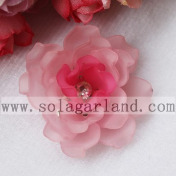 Vintage Handmade Frost Color Multilayer Bead Flower 41MM