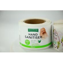 Sanitizer Sanitizer para mãos, embalagem, impressão de etiquetas em rolo de vinil