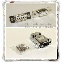 DB9 Connecteur DB9, RS232 Kit de connecteur à connecteur 9 broches avec matériel