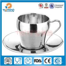 2013 novos produtos! Elegantes xícaras de café de aço inoxidável e pires