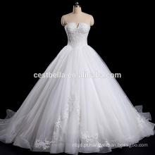 Strapless Off-Shoulder V-Neck Organza vestido de casamento taobao