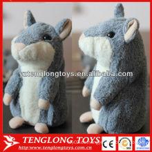 Grabación de voz Hamster hablando de peluche Repetir Talking Hamster juguete para niños