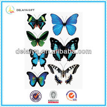 2013 New Wonderful PVC butterfly paper stickers