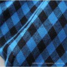 Coton CVC gris et tissu de teinture plaine ou textile de sergé pour le vêtement
