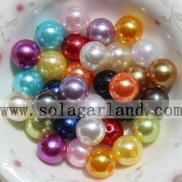 Runde Imitation Acryl Perlen Runde Spacer lose Charms Beads DIY Schmuck Großhandel