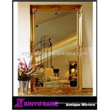Victorican fashion wood handcraft gold salon mirror station