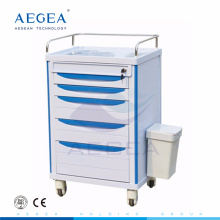 AG-MT006 Hospital ABS material enfermera utilidad utilidad carro de la medicina móvil