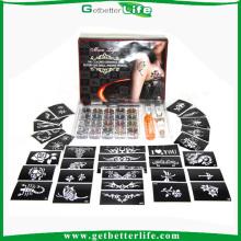 Getbetterlife 2014 nueva moda 20Colors 30 plantillas del tatuaje del brillo