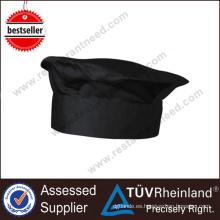 Shinelong High-End barato no tejido algodón negro Chef Hat