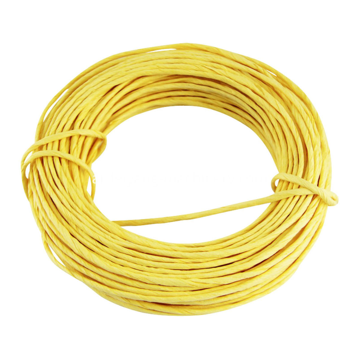 yellow color twisted paper cord