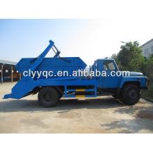Dongfeng brazo rollo contenedor camión de basura, capacidad 6cbm
