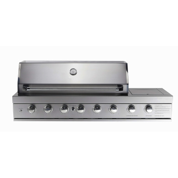 6burner Built in Stainless Steel BBQ Grill with Side Burner