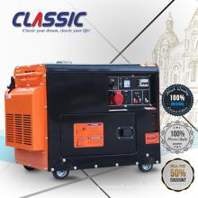 CLASSIC CHINA 5kva Generador Diesel de 3 Fases, Generador Diesel Silencioso 3 fases 50hz 220v / 380v, 5.5kva Generador Diesel Silencioso