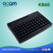 usb programmable POS keyboard with magnetic card reader