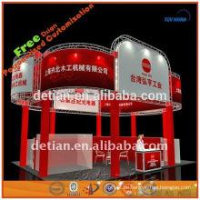 3x3 Grafikdesign maßgeschneiderte Messe-System mit Klapptisch in Shanghai