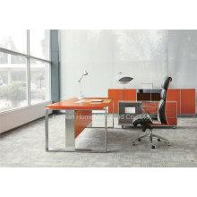 Mesa de escritório moderna em forma de L com perna de aço inoxidável (HF-SIA01)