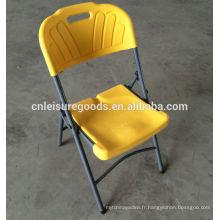 Chaise pliante en plastique bon marché en acier HDPE