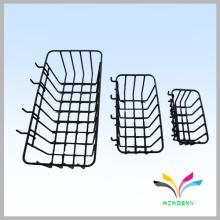 OEM de diseño de polvo recubierto de alambre cesta de almacenamiento de compras