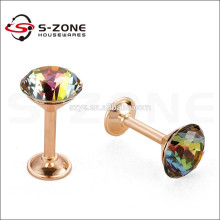 Modern decorative wall crystal glass curtain hook for curtain hanging rod
