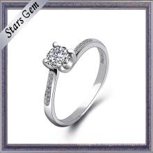 Alta qualidade cubic zirconia anel de prata jóias